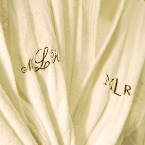 Monogrammed robes make a great wedding gift