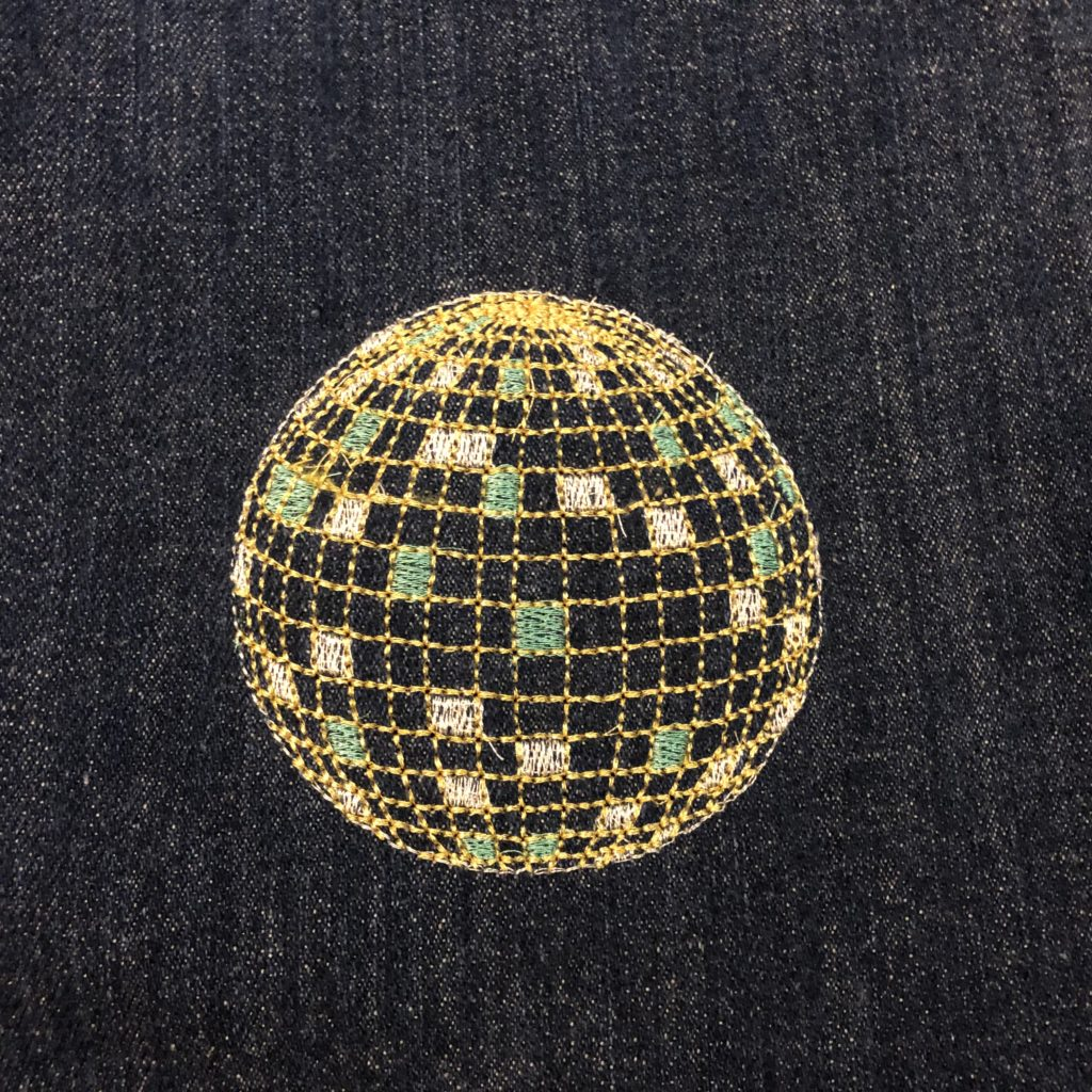 disco ball machine embroidery design