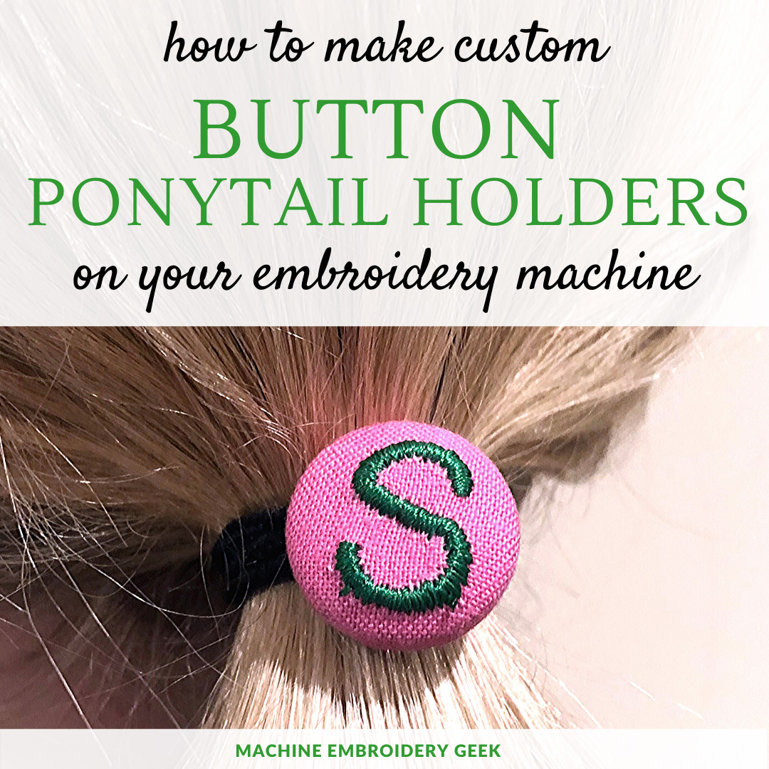 how to make custom button ponytail holders