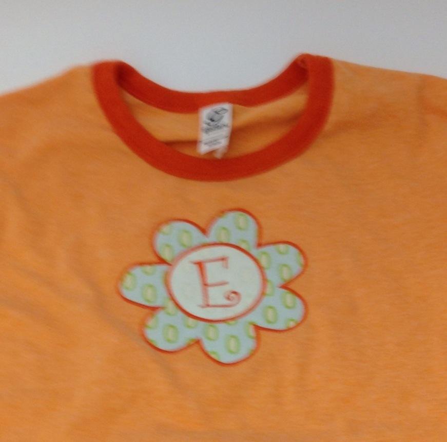 Applique flower t-shirt
