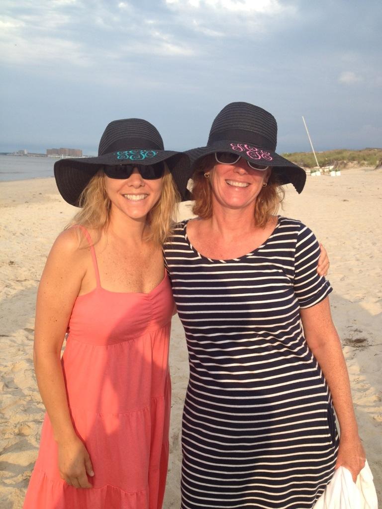 monogrammed straw hats