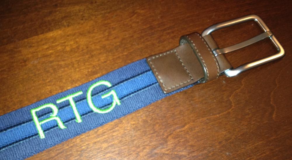 monogrammed belt