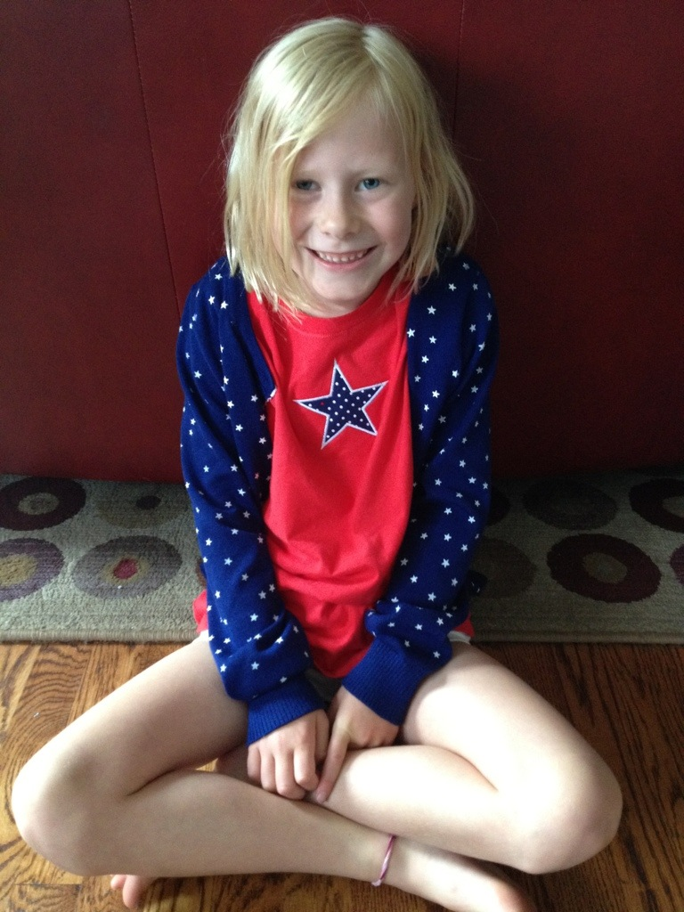 star applique shirt