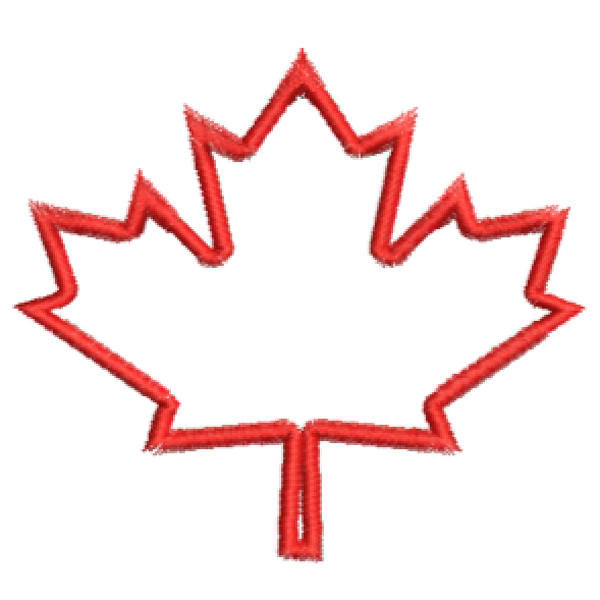 Canadian leaf applique
