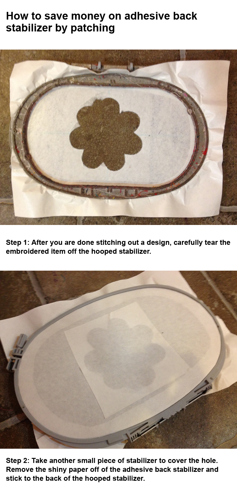 How to save money on embroidery stabilizer