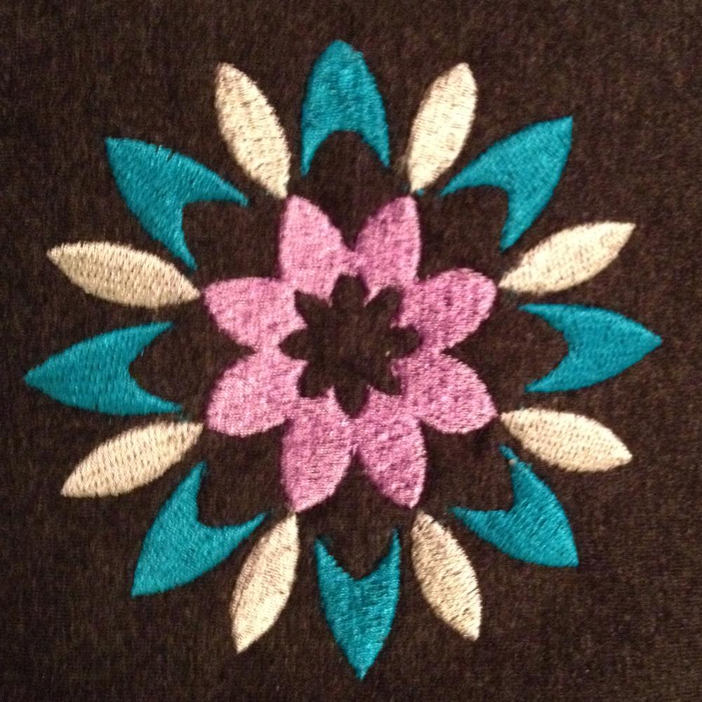 Thailand flower machine embroidery design