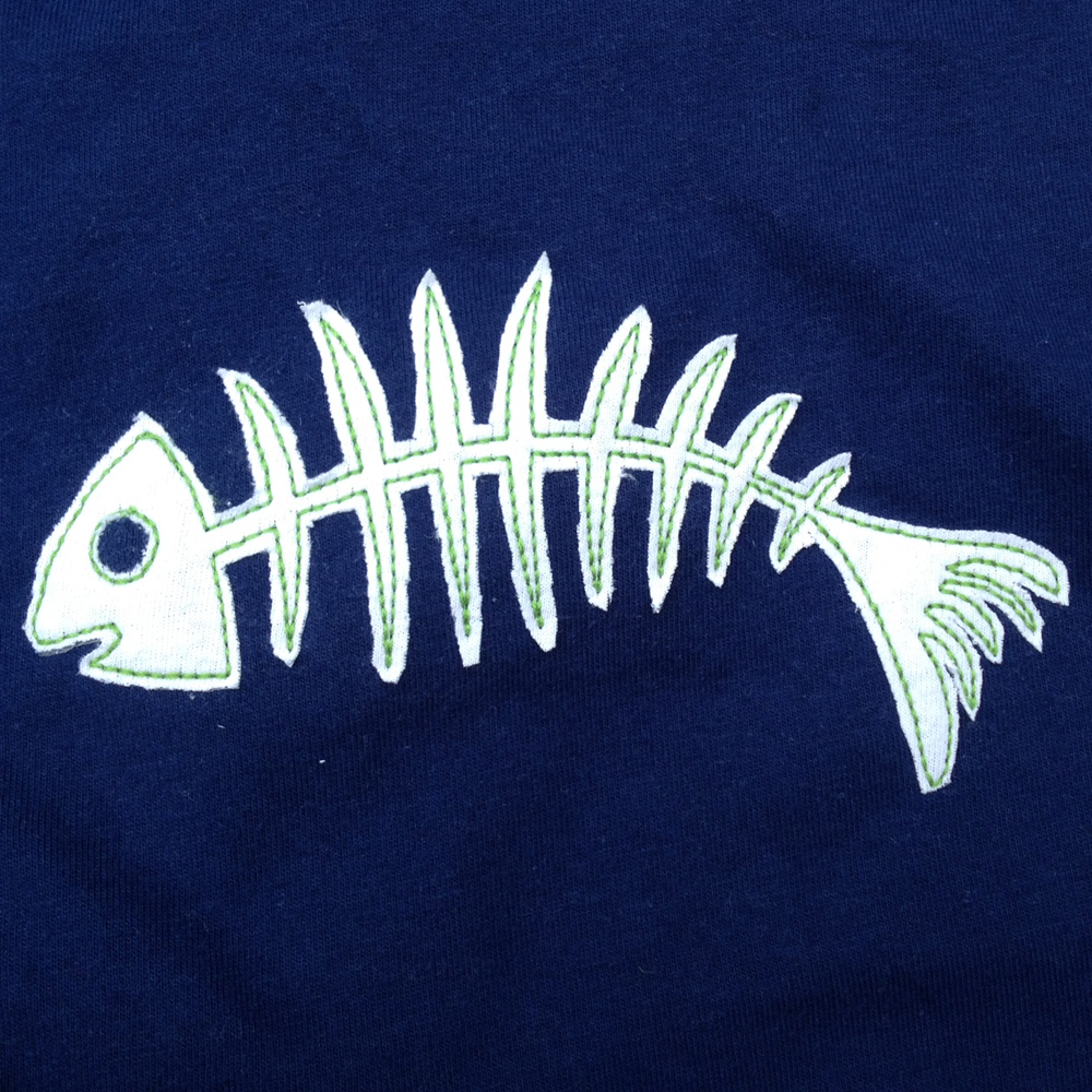 Fish Skeleton applique