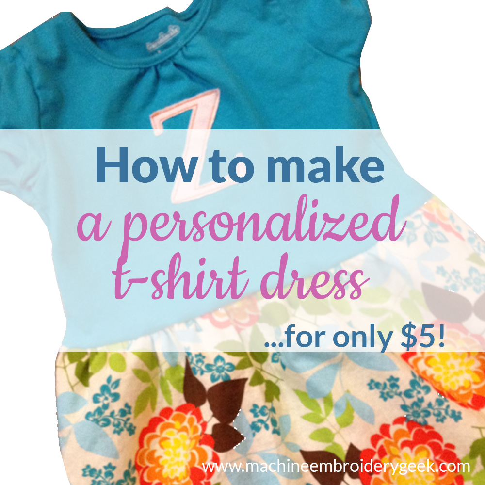 how to make a personalized t-shirt dress for only $5