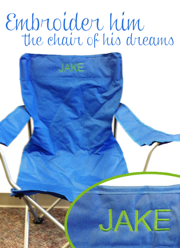 Wondrous Personalized Embroidered Chair Is The Perfect T For My Download Free Architecture Designs Scobabritishbridgeorg