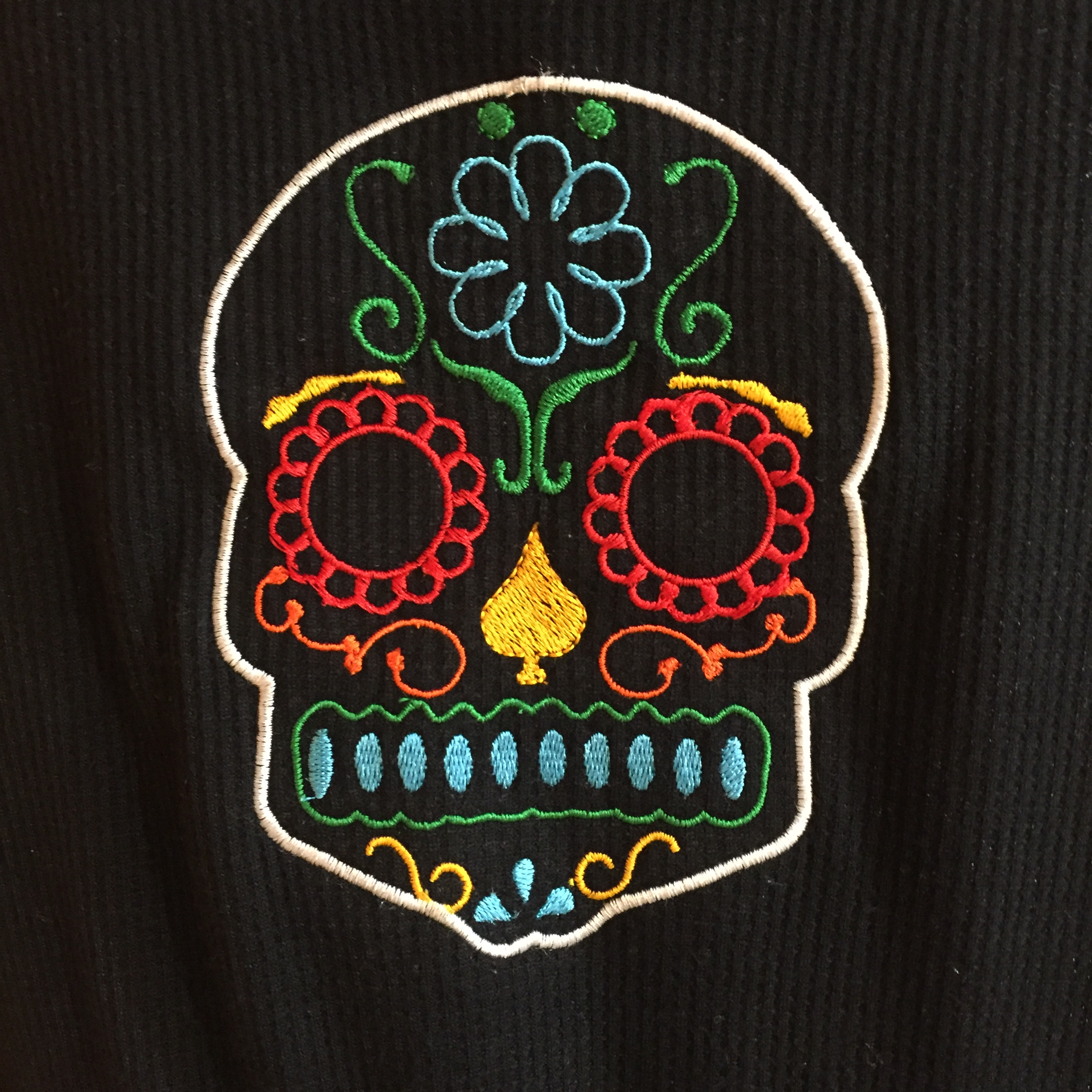 sugar skull applique