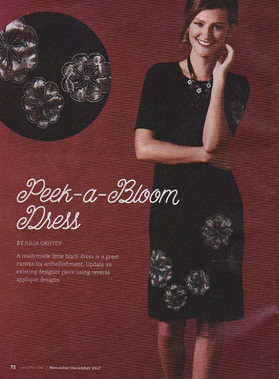 Peek-a-bloom-dress from CME - Creative Machine Embroidery magazine