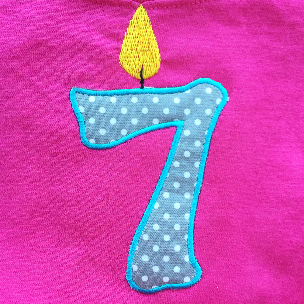Birthday Candle Number Machine Applique Design A Perfect