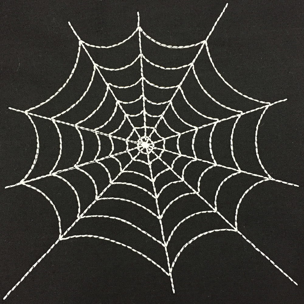 Simple And Versatile Spider Web Machine Embroidery Design In Five Sizes Suitable For Stitching An Applique On Top Machine Embroidery Geek