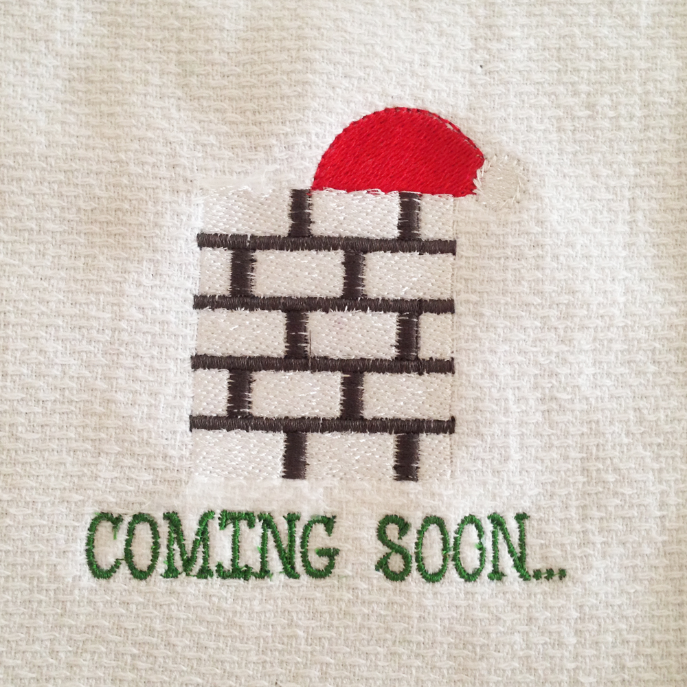 3ac47cdf755 Coming Soon Santa Hat in Chimney Christmas Machine embroidery design ...
