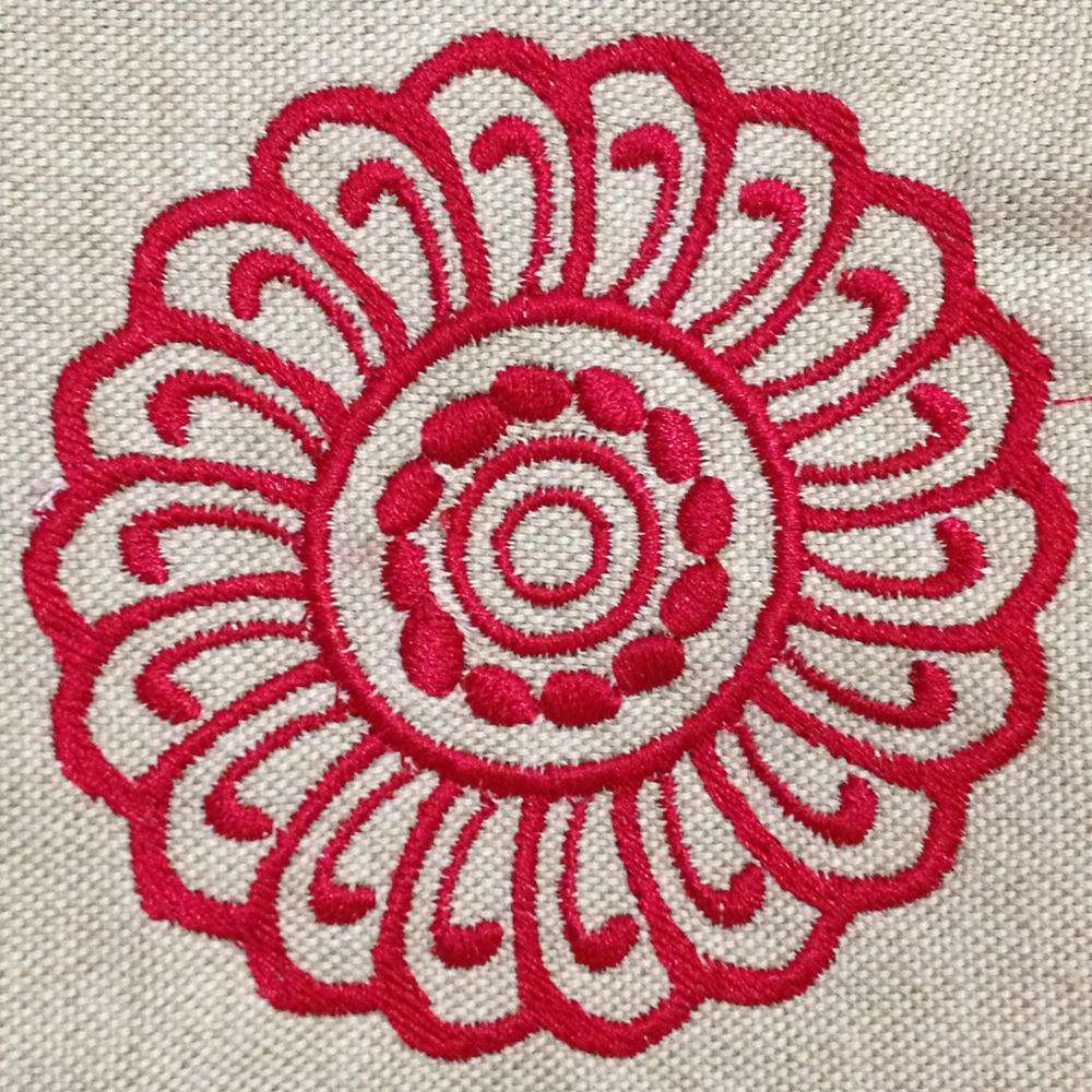 Lovely Modern Abstract Flower Machine Embroidery Design Beautiful