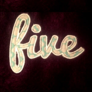 five-in-cursive