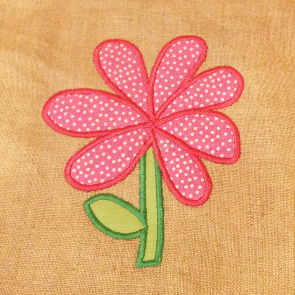 Whimsical Flower Applique Design For Clothing Or Home Decor In 3