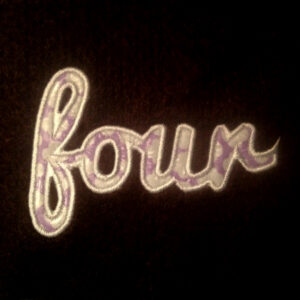 four-in-cursive