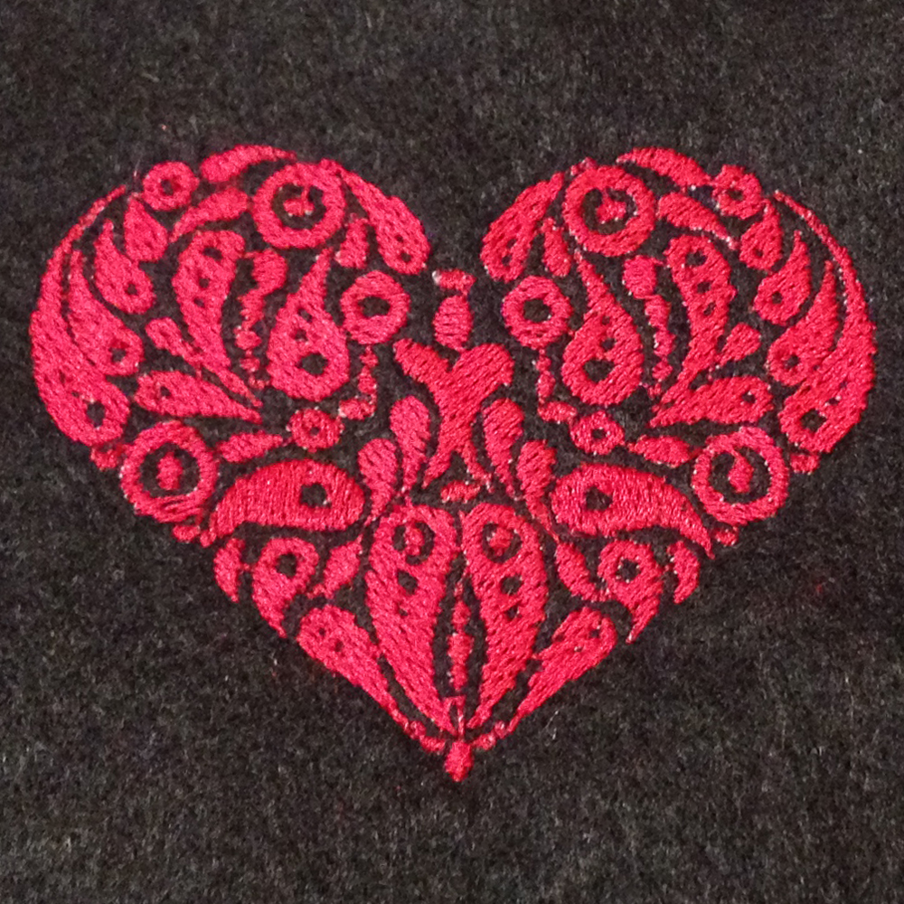 Cool Edgy Heart Machine Embroidery Design In 2 Sizes Stitch Out