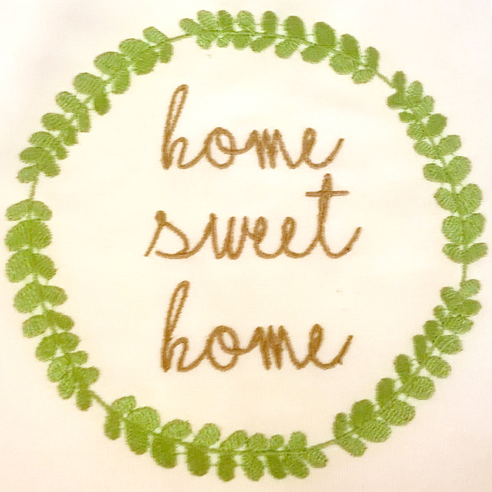 Home Sweet Home Machine Embroidery Design… makes for a great ...