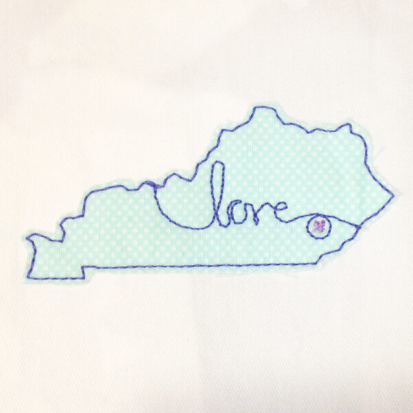 kentucky love machine embroidery design