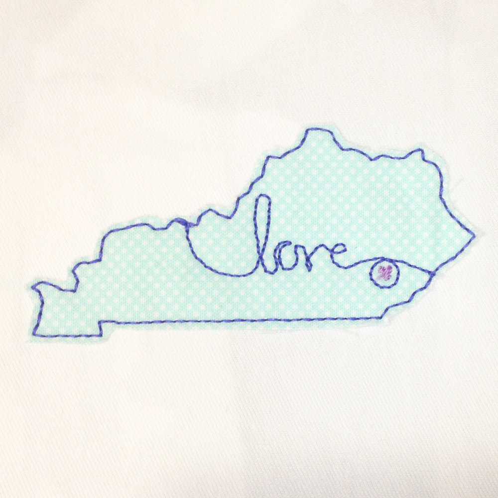 kentucky love machine embroidery design