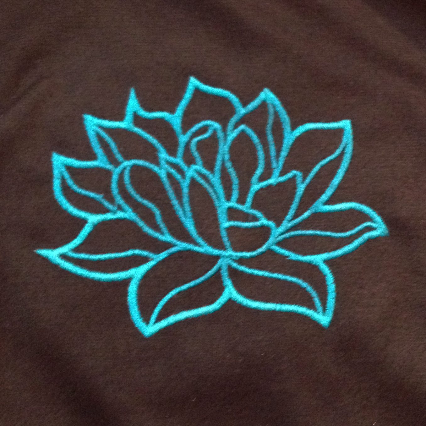 Modern and elegant lotus flower applique embroidery design modern and elegant lotus flower applique embroidery design simple lotus flower is perfect symbol of good fortune in buddhism biocorpaavc Choice Image