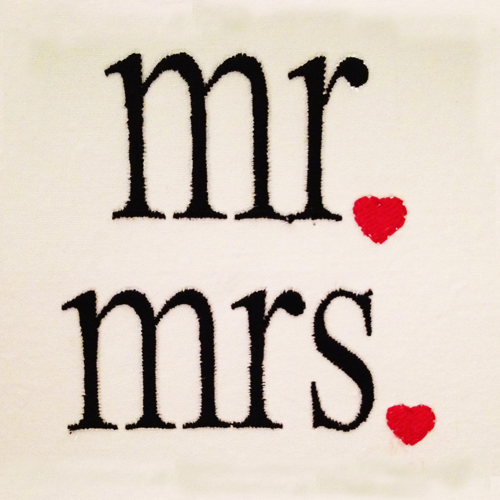 Modern Mr And Mrs Machine Embroidery Designs For Newlyweds Stitch