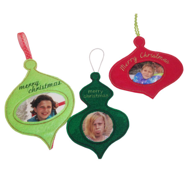 in the hoop ornaments with picture frame