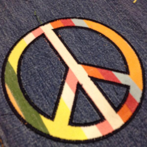 peace sign applique
