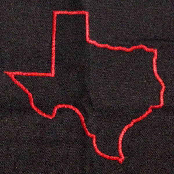 texas satin stitch applique