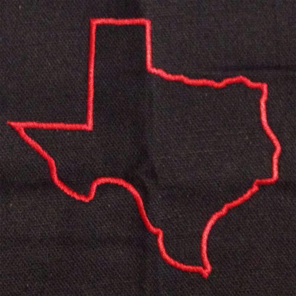 texas satin stitch applique
