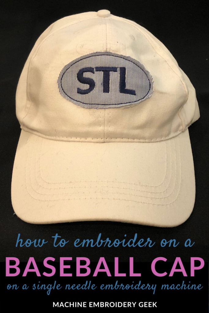 how to embroidery on a baseball cap