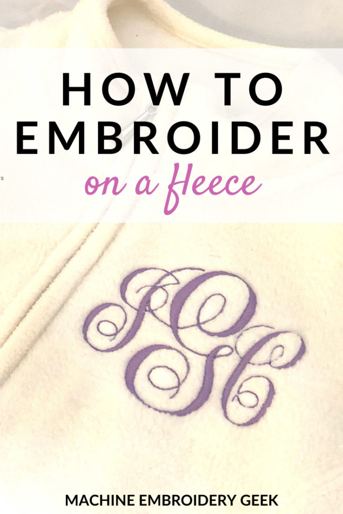how to embroidery on fleece