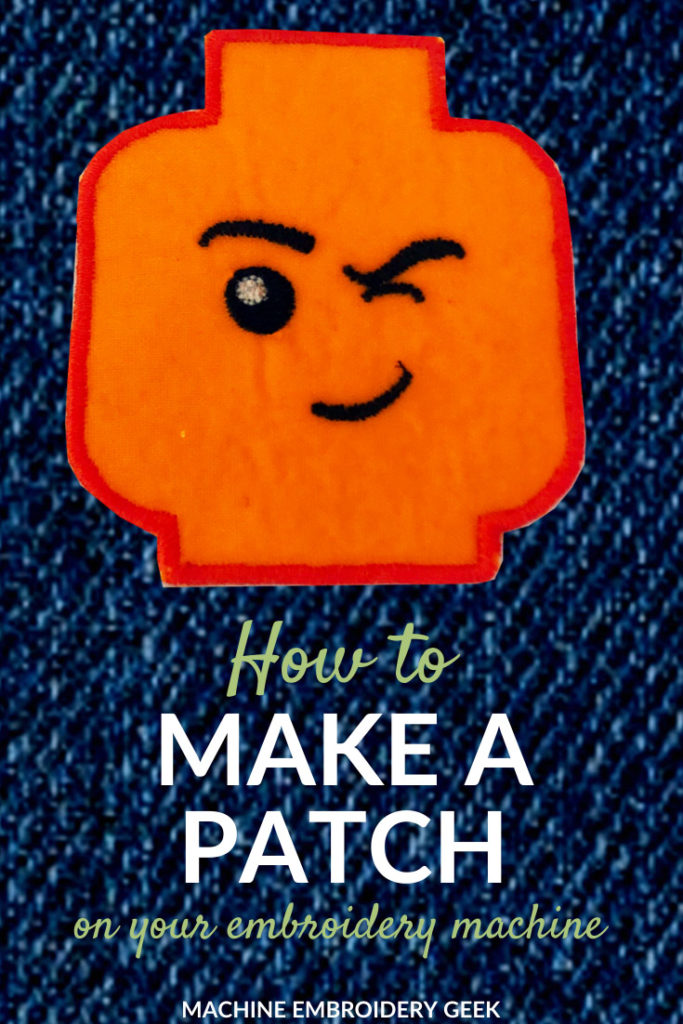 how to make a patch on your embroidery machine
