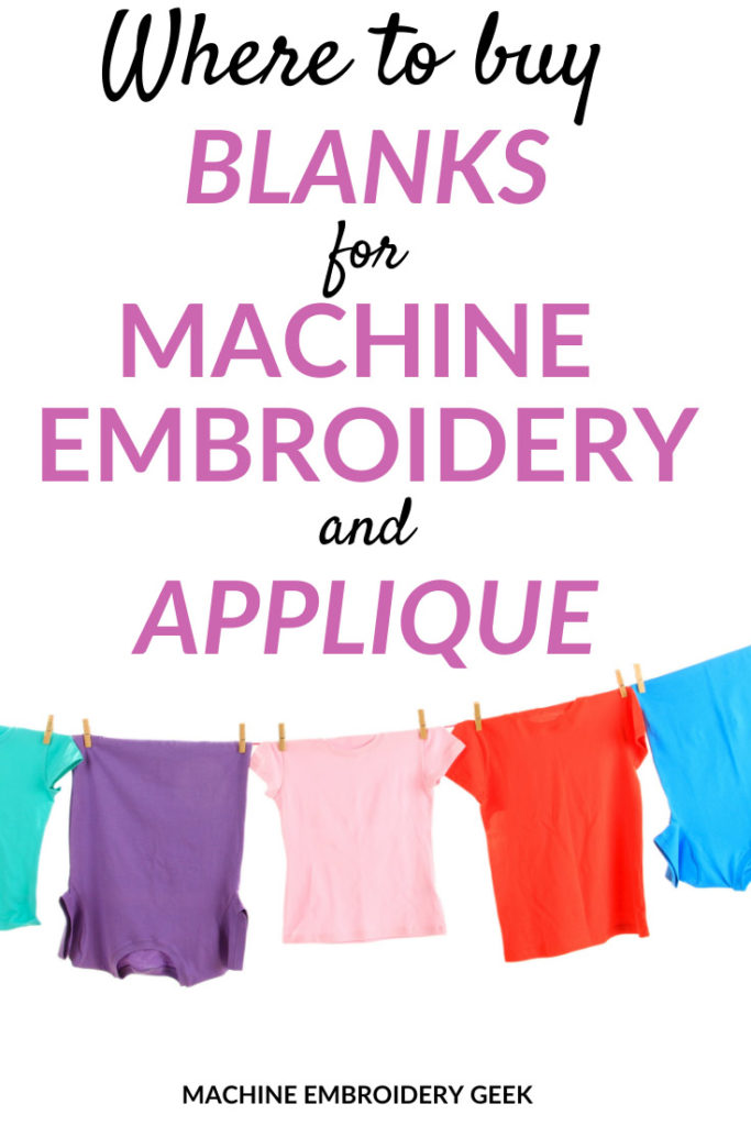 where to find blanks for machine embroidery and applique