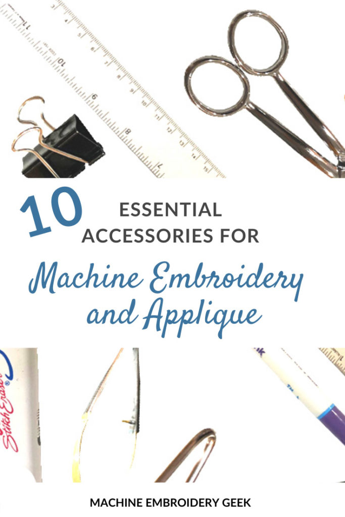 10 essential tools for machine embroidery and applique