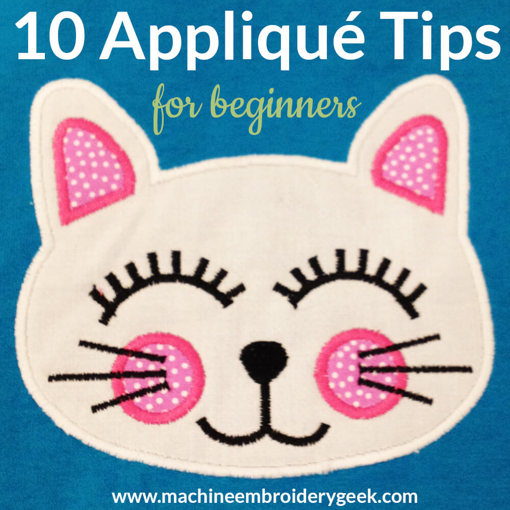 appliqué tips for beginners