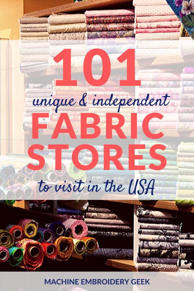 100 Independent fabric stores in the USA