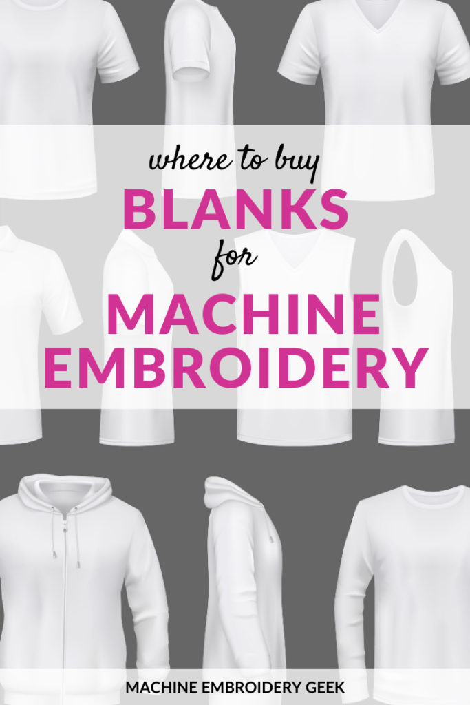 Where to buy blanks for machine embroidery and applique