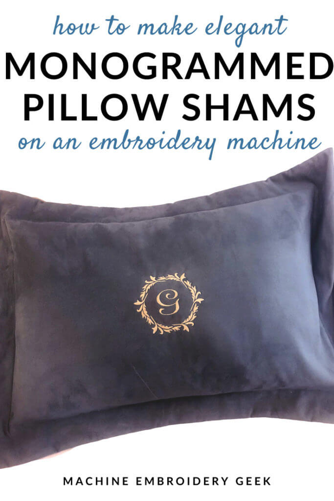 how to make monogrammed pillow shams