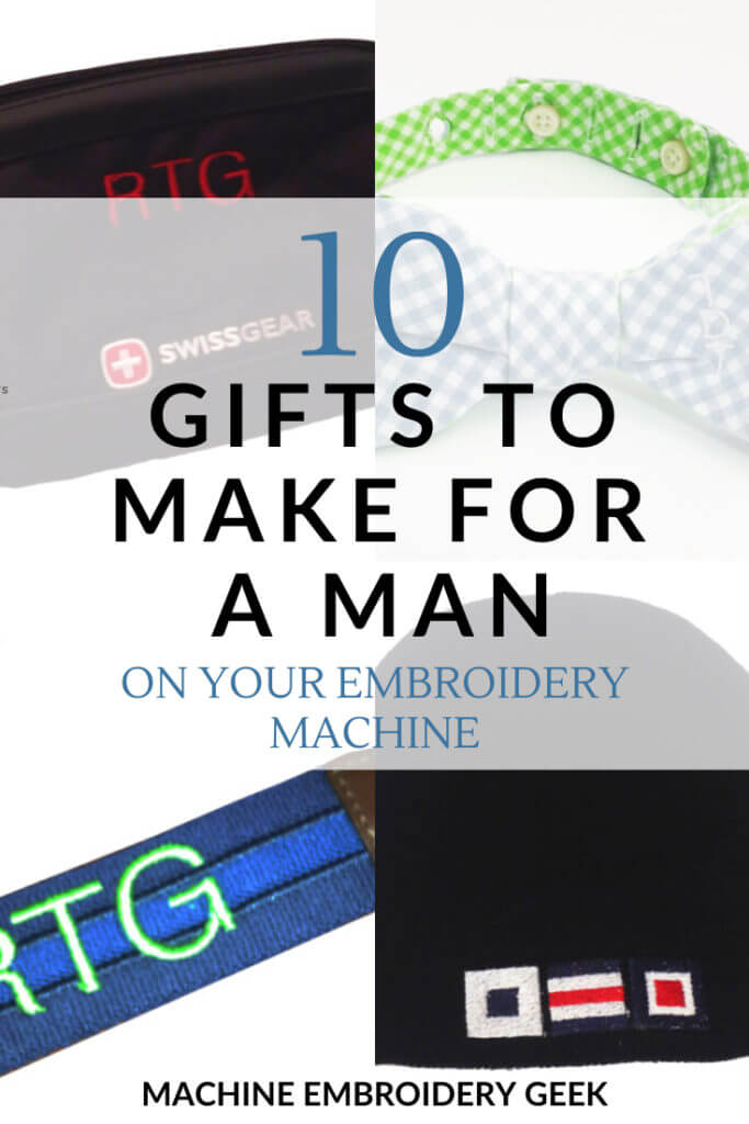 10 Gifts to make for a man using your embroidery machine