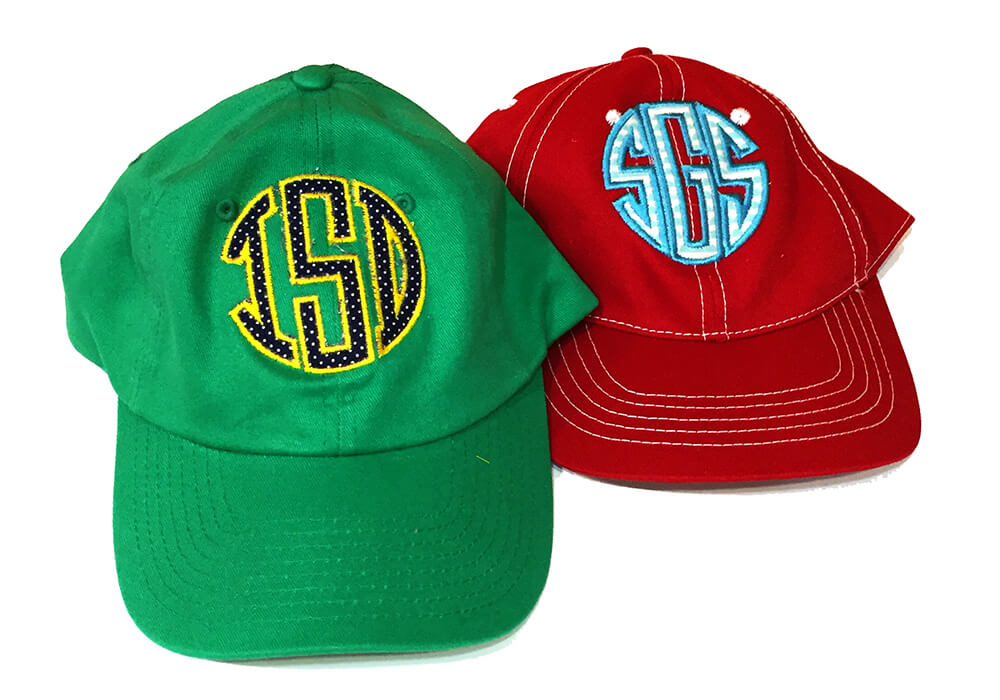 monogrammed baseball cap is one of the best gifts for a teenage girl to make on your embroidery machine