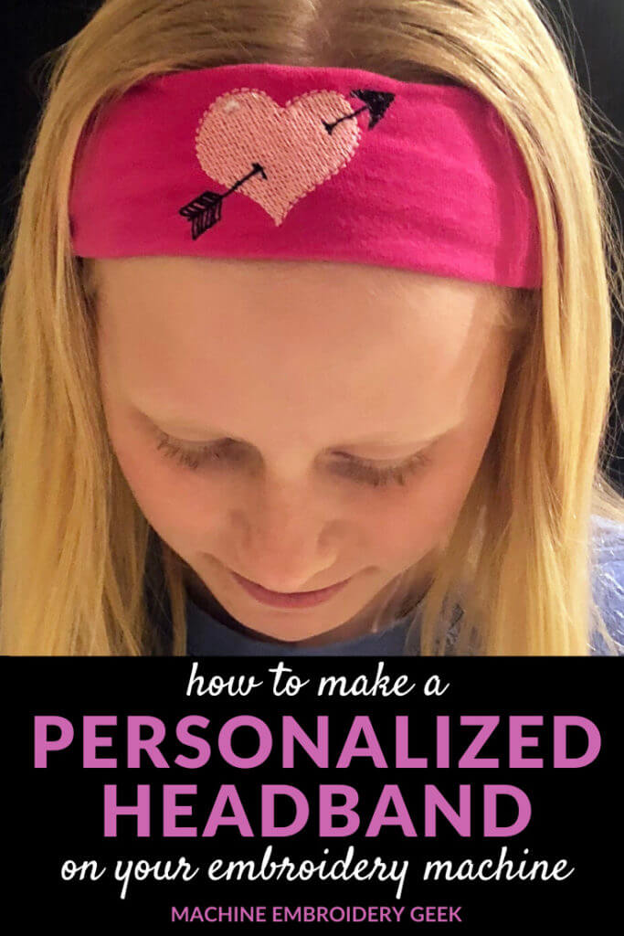how to make a personalized headband on your embroidery machine