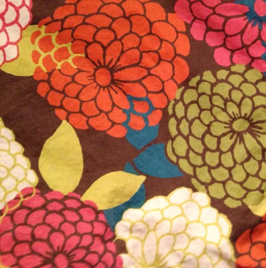 Zinnia design on bedspread