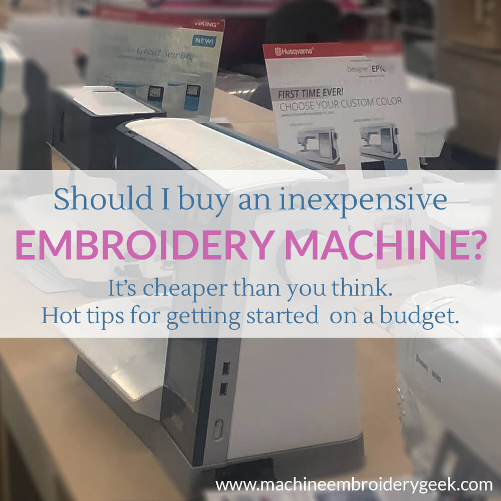 How to buy inexpensive embroidery machine