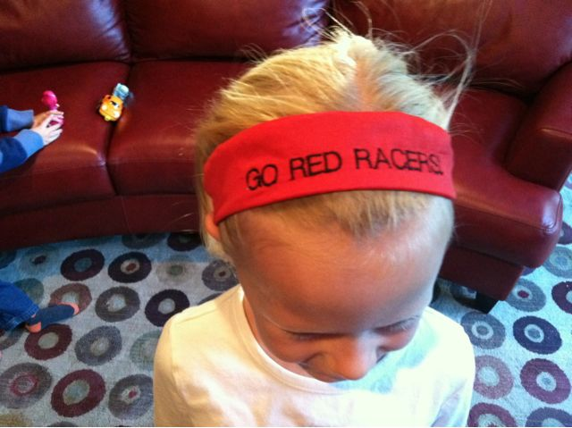 Go red racers personalized headband