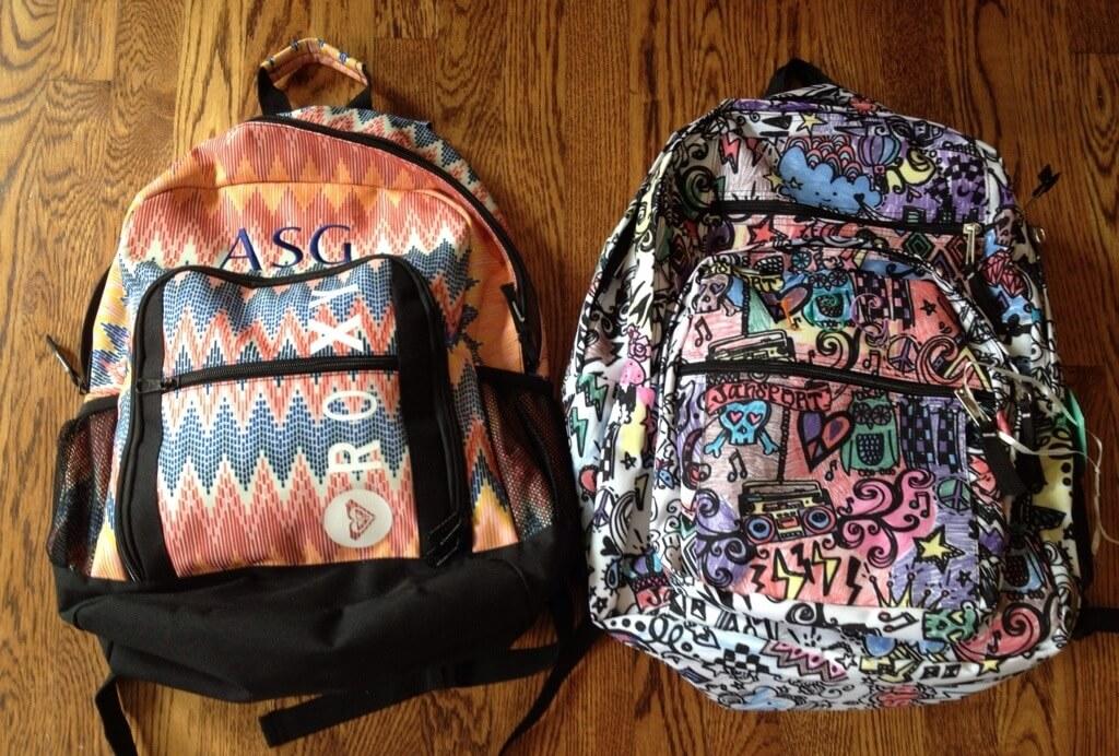 monogrammed backpacks