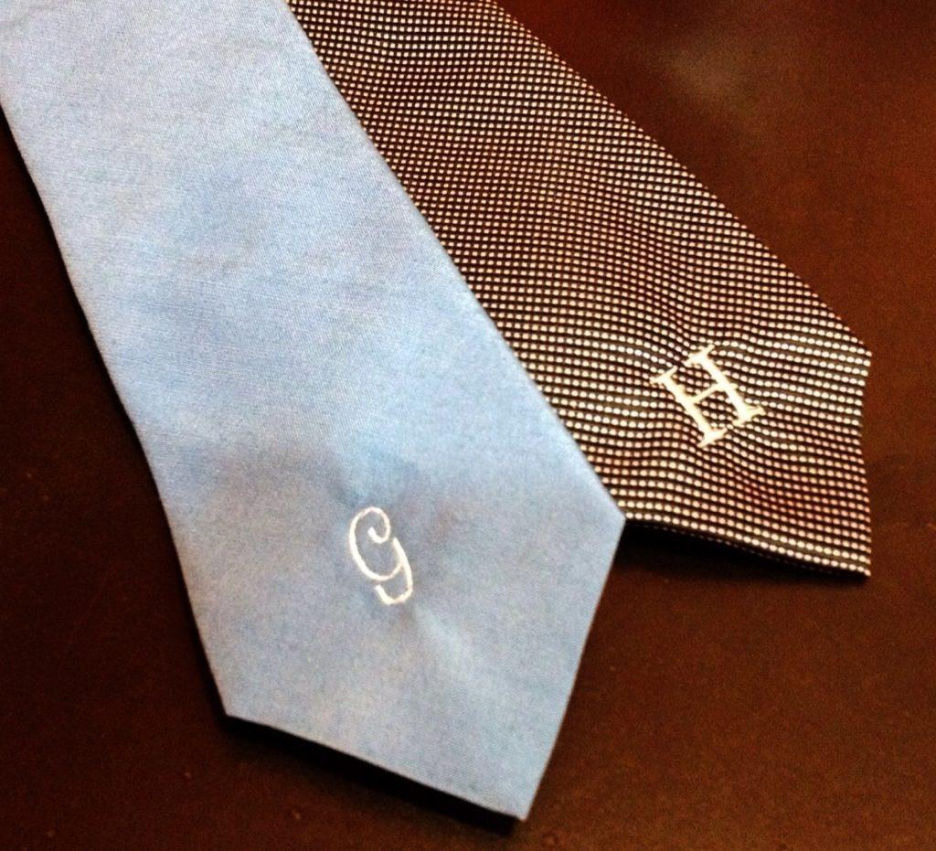 monogrammed ties