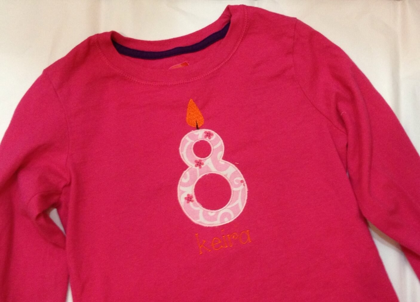 applique birthday shirt